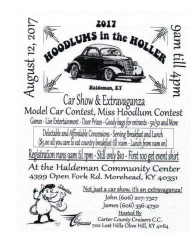 Hoodlums In The Holler Car Show Extravaganza Morehead Tourism - Car show award categories